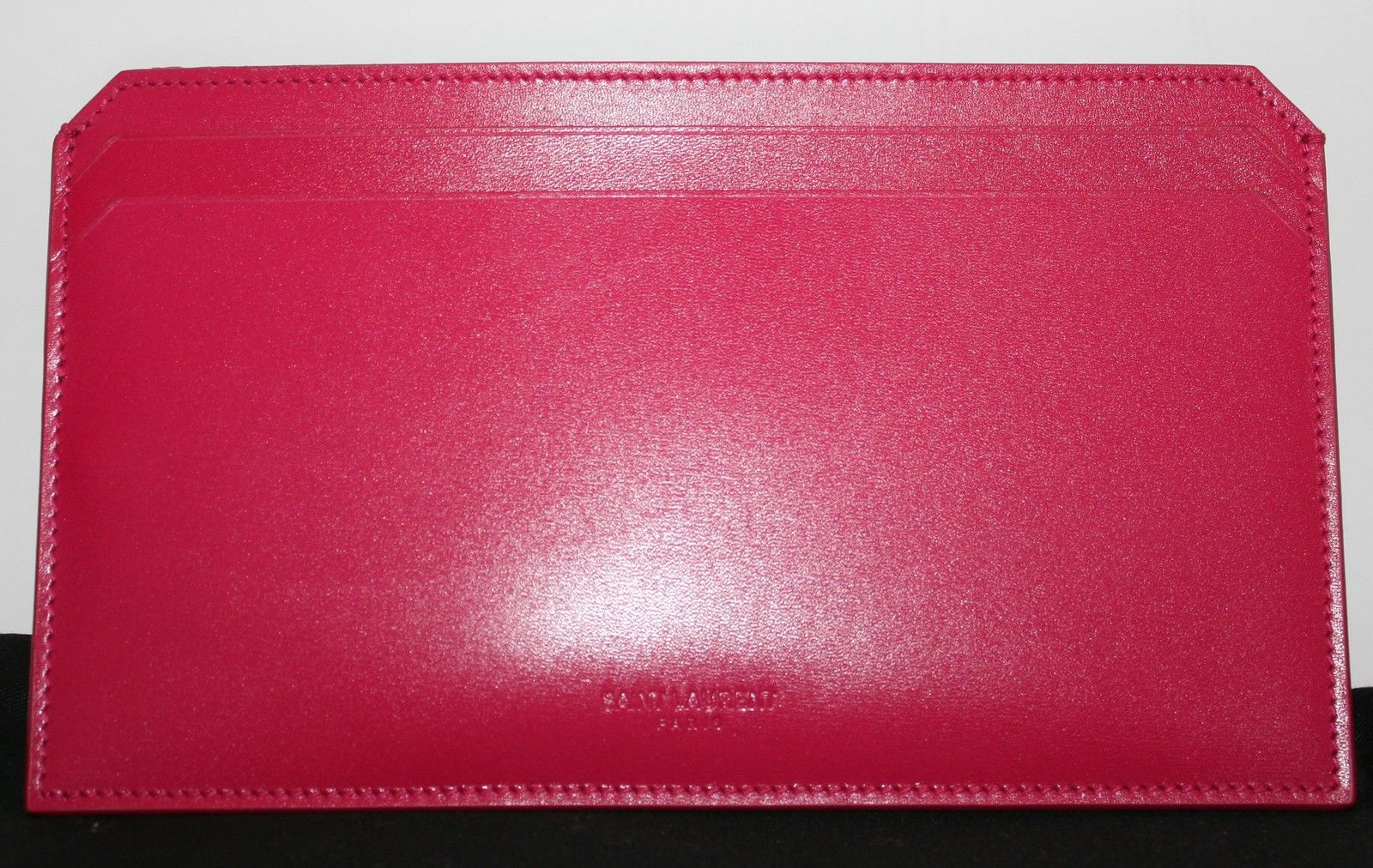 d202d4aa274 YSL Yves Saint Laurent Paris Fuschia Pink Travel Wallet | LuxLu